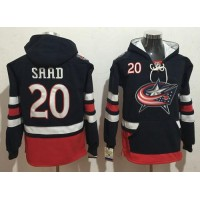 Columbus Blue Jackets #20 Brandon Saad Navy Blue Name & Number Pullover NHL Hoodie