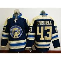 Columbus Blue Jackets #43 Scott Hartnell Navy Blue Alternate Stitched NHL Jersey