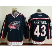 Columbus Blue Jackets #43 Scott Hartnell Navy Blue Home Stitched NHL Jersey