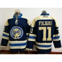 Columbus Blue Jackets #71 Nick Foligno Navy Blue Alternate Stitched NHL Jersey