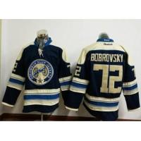 Columbus Blue Jackets #72 Sergei Bobrovsky Navy Blue Alternate Stitched NHL Jersey