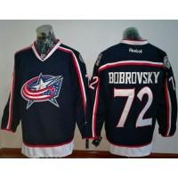 Columbus Blue Jackets #72 Sergei Bobrovsky Navy Blue Home Stitched NHL Jersey