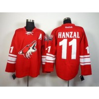 Coyotes #11 Martin Hanzal Red Home Stitched NHL Jersey