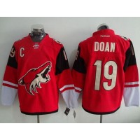 Coyotes #19 Shane Doan Red Home Stitched NHL Jersey