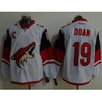 Coyotes #19 Shane Doan White Road Stitched NHL Jersey