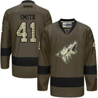 Coyotes #41 Mike Smith Green Salute to Service Stitched NHL Jersey