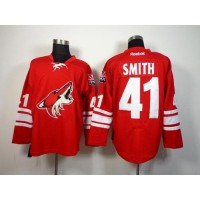 Coyotes #41 Mike Smith Red Home Stitched NHL Jersey