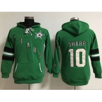Dallas Stars #10 Patrick Sharp Green Women's Old Time Heidi Hoodie NHL Hoodie