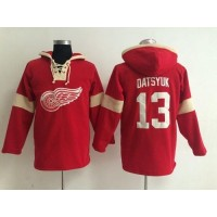 Detroit Red Wings #13 Pavel Datsyuk Red Pullover NHL Hoodie