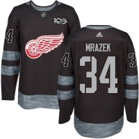 Detroit Red Wings #34 Petr Mrazek Black 1917-2017 100th Anniversary Stitched NHL Jersey