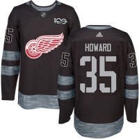 Detroit Red Wings #35 Jimmy Howard Black 1917-2017 100th Anniversary Stitched NHL Jersey