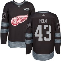 Detroit Red Wings #43 Darren Helm Black 1917-2017 100th Anniversary Stitched NHL Jersey
