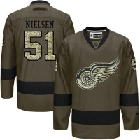 Detroit Red Wings #51 Frans Nielsen Green Salute to Service Stitched NHL Jersey
