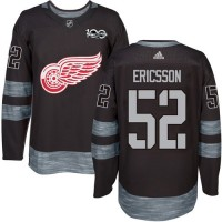 Detroit Red Wings #52 Jonathan Ericsson Black 1917-2017 100th Anniversary Stitched NHL Jersey