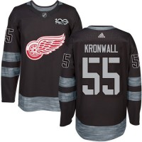 Detroit Red Wings #55 Niklas Kronwall Black 1917-2017 100th Anniversary Stitched NHL Jersey