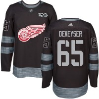 Detroit Red Wings #65 Danny DeKeyser Black 1917-2017 100th Anniversary Stitched NHL Jersey