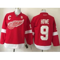 Detroit Red Wings #9 Gordie Howe Red Stitched NHL Jersey