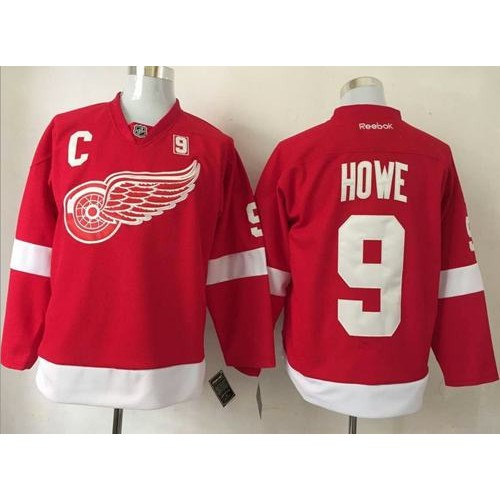 best sneakers bec0c 94bcc Detroit Red Wings #9 Gordie Howe Red Stitched NHL Jersey
