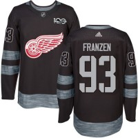 Detroit Red Wings #93 Johan Franzen Black 1917-2017 100th Anniversary Stitched NHL Jersey