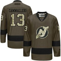 Devils #13 Mike Cammalleri Green Salute to Service Stitched NHL Jersey