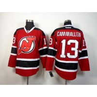Devils #13 Mike Cammalleri Red Stitched NHL Jersey