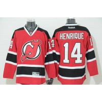 Devils #14 Adam Henrique Red Stitched NHL Jersey