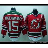 Devils #15 Jamie Langenbrunner Stitched Red and Green CCM Throwback NHL Jersey