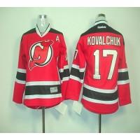 Devils #17 Ilya Kovalchuk Red Home Stitched Youth NHL Jersey