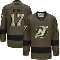 Devils #17 Michael Ryder Green Salute to Service Stitched NHL Jersey