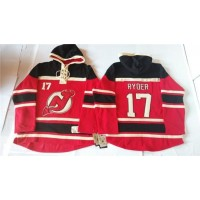 Devils #17 Michael Ryder Red Sawyer Hooded Sweatshirt Stitched NHL Jersey