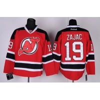 Devils #19 Travis Zajac Red Stitched NHL Jersey
