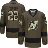 Devils #22 Jordin Tootoo Green Salute to Service Stitched NHL Jersey