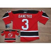 Devils #3 Ken Daneyko Stitched Red NHL Jersey