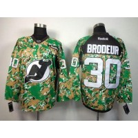Devils #30 Martin Brodeur Camo Veterans Day Practice Stitched NHL Jersey