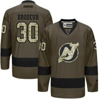 Devils #30 Martin Brodeur Green Salute to Service Stitched NHL Jersey