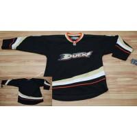 Ducks Blank Stitched Black NHL Jersey