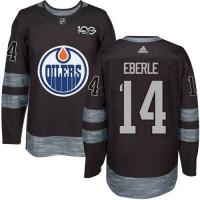 Edmonton Oilers #14 Jordan Eberle Black 1917-2017 100th Anniversary Stitched NHL Jersey
