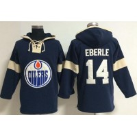 Edmonton Oilers #14 Jordan Eberle Dark Blue Pullover NHL Hoodie