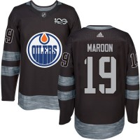 Edmonton Oilers #19 Patrick Maroon Black 1917-2017 100th Anniversary Stitched NHL Jersey