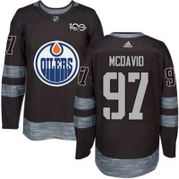 Edmonton Oilers #97 Connor McDavid Black 1917-2017 100th Anniversary Stitched NHL Jersey