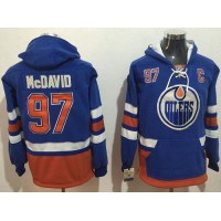 Edmonton Oilers #97 Connor McDavid Light Blue Name & Number Pullover NHL Hoodie