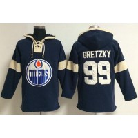 Edmonton Oilers #99 Wayne Gretzky Dark Blue Pullover NHL Hoodie