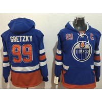 Edmonton Oilers #99 Wayne Gretzky Light Blue Name & Number Pullover NHL Hoodie