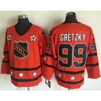 Edmonton Oilers #99 Wayne Gretzky Orange All Star CCM Throwback Stitched NHL Jersey