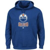 Edmonton Oilers Majestic Critical Victory VIII Fleece Hoodie Blue