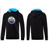 Edmonton Oilers Pullover Hoodie Black & Blue
