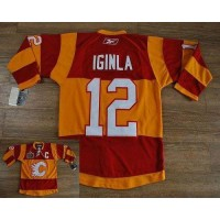 Flames #12 Jarome Iginla RedOrange 2011 Winter Classic Stitched Youth NHL Jersey