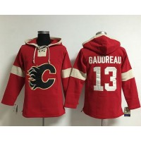 Flames #13 Johnny Gaudreau Red Pullover NHL Hoodie