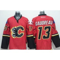 Flames #13 Johnny Gaudreau Red Stitched NHL Jersey