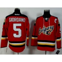 Flames #5 Mark Giordano Red Alternate Stitched NHL Jersey